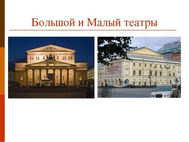 Чем Большой театр отличается от Малого