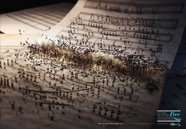Settling the Score - Live: Musical Battle, Radio New Zealand Concert , Clemenger Bbdo, Wellington, Печатная реклама
