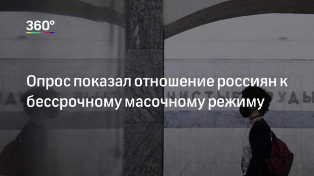 Опрос показал отношение россиян к бессрочному масочному режиму