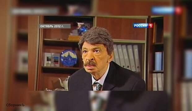 """Илья Олейников в """"Городке"""", октябрь 2012 года. (Источник изображения: vesti.ru)."""