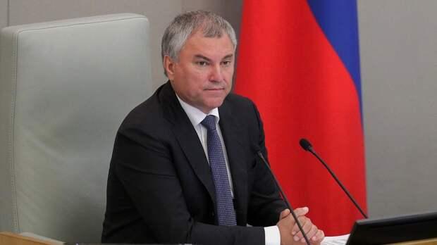 Володин ждет результатов проверки депутатов на двойное гражданство