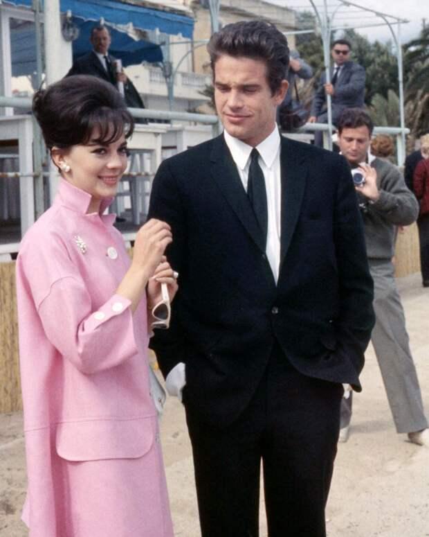 Актёр Уоррен Битти и Натали Вуд на кинофестивале 1962 года.