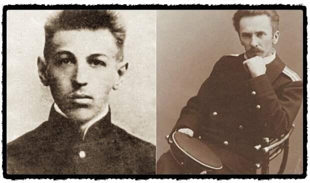 Евгений Шмидт и его отец Петр