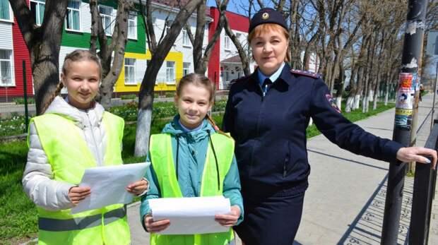 Сотрудники Госавтоинспекции провели профилактическое мероприятие «Юный пешеход»