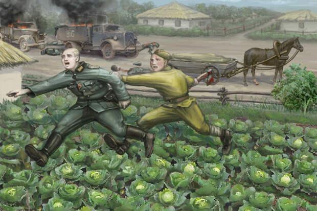 Овчаренко своим топором так отомстил гитлеровцам, что они разбегались от него в ужасе