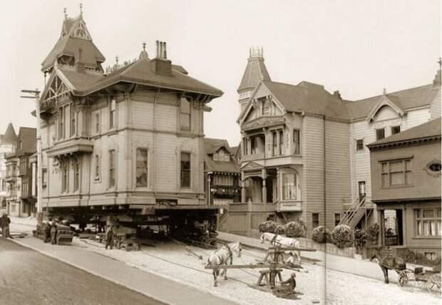 Как век назад с помощью лошадей перемещали целые города