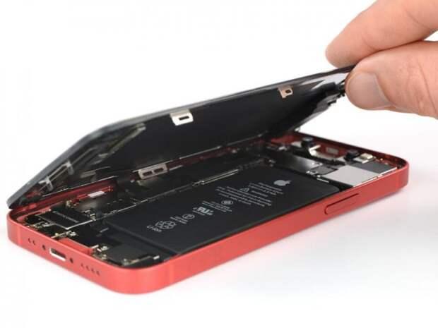 Ремонтопригодность iPhone 12 mini оценена в 6 баллов из 10