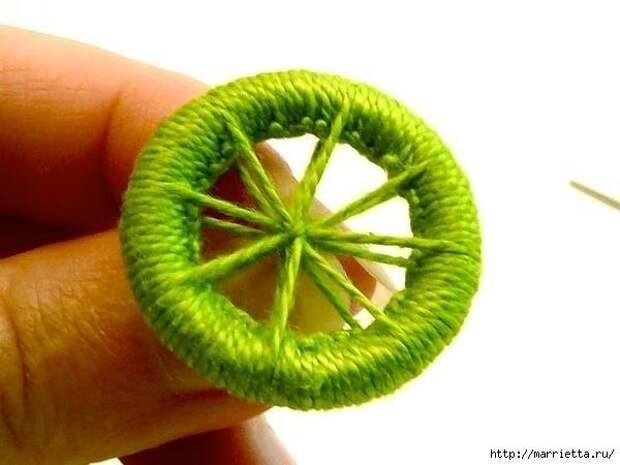 САМОДЕЛКИ. Делаем пуговицы для вязаной одежды