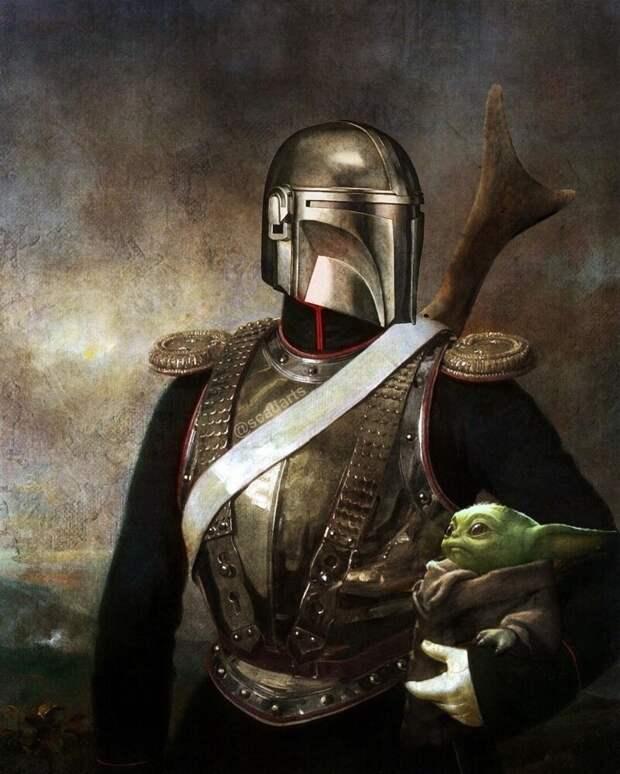 Герои извселенной Звездных войн всюжетах классических картин