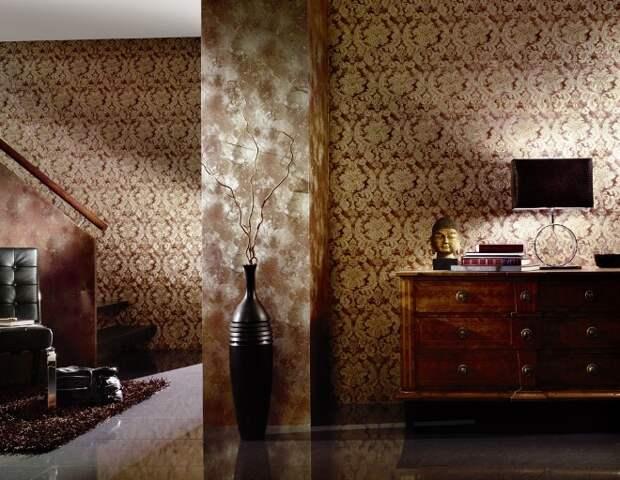 Обои-компаньоны: фото, примеры для зала, оригинальные приемы и стандартные способы создания эффектного интерьера (83 фото)