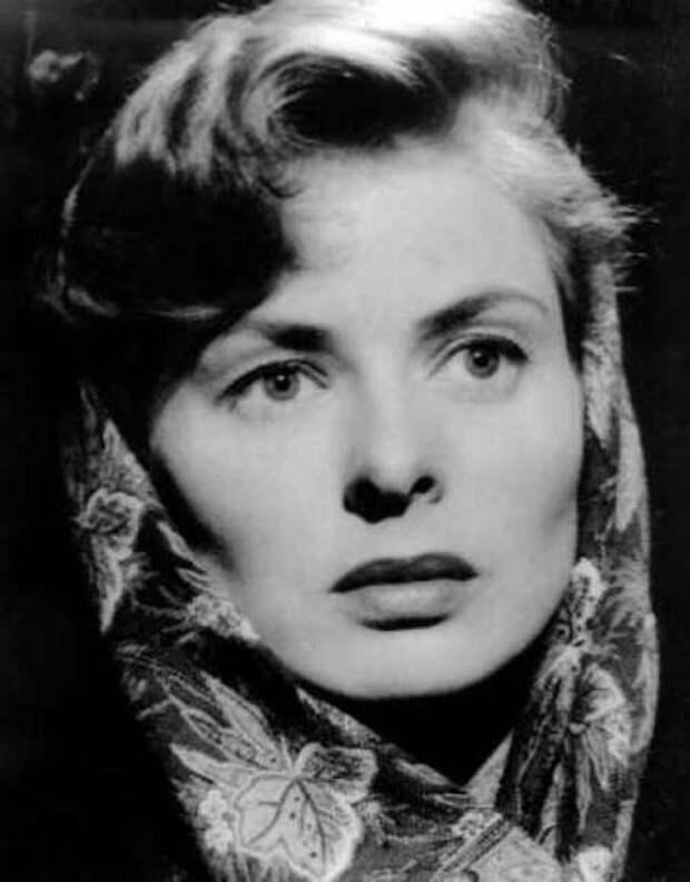 Ингрид Бергман в платке. Фото / Ingrid Bergman. Photo