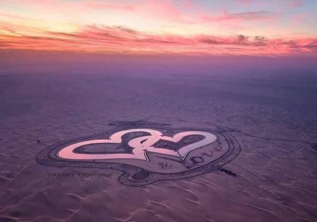 Рукотворное чудо в дубайской пустыне: ОзероЛюбви