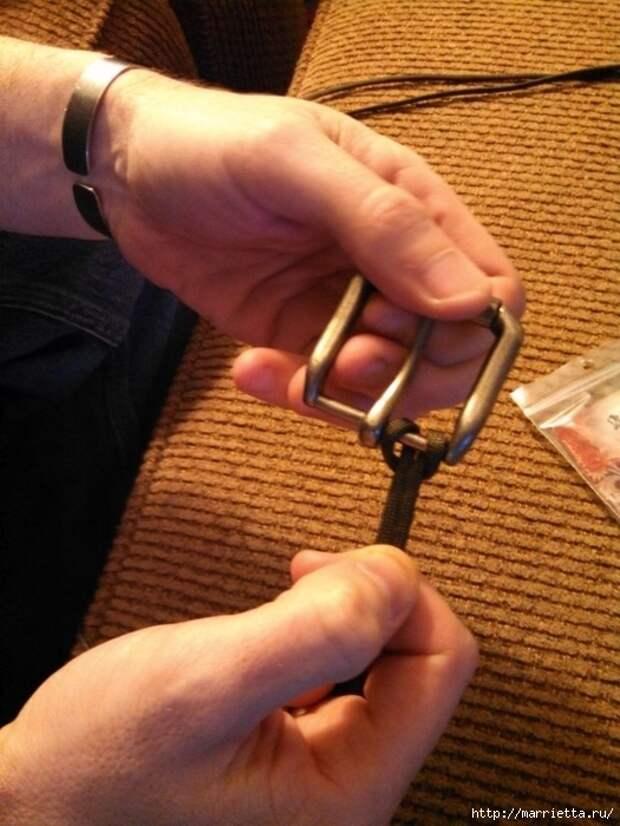Как сплести ремень для брюк в технике макраме. Мастер-класс (10) (525x700, 269Kb)