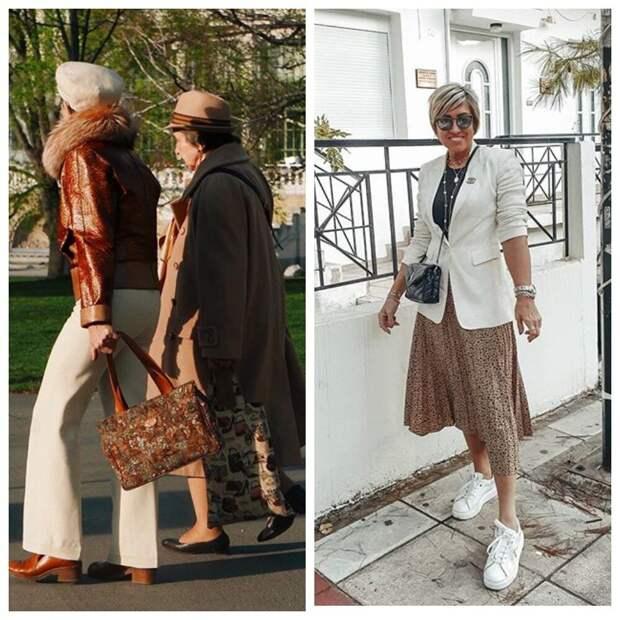Сумка, обувь и куртка одного цвета - это уже прошлый век, так не надо