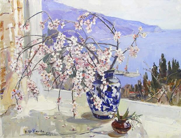 Весенний Крым, миндаль цветет. 1981 (653x498, 358Kb)