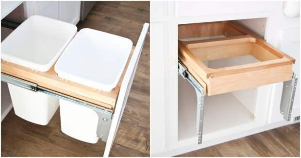 Функциональная переделка ящика для удобства на кухне