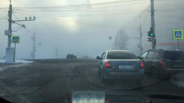 Фотообзор: аномальный туман окутал Ижевск