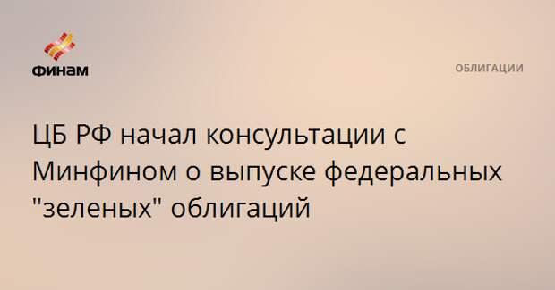 """ЦБ РФ начал консультации с Минфином о выпуске федеральных """"зеленых"""" облигаций"""