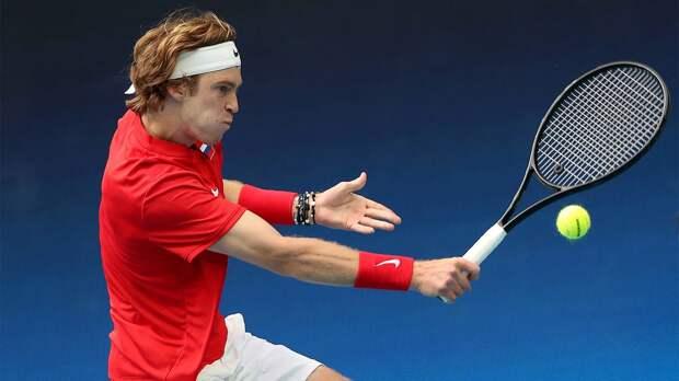 Рублев победил Пелью в стартовом матче сборной России на ATP Cup
