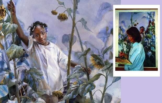 Удивительный мир в акварельных портретах американской художницы Мэри Уайт.