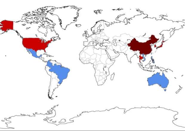 Карта распространения эпидемии по планете. Впрочем, в последние дни такие карты все время устаревают, так что не факт, что и эта останется актуальной надолго / ©Wikimedia Commons