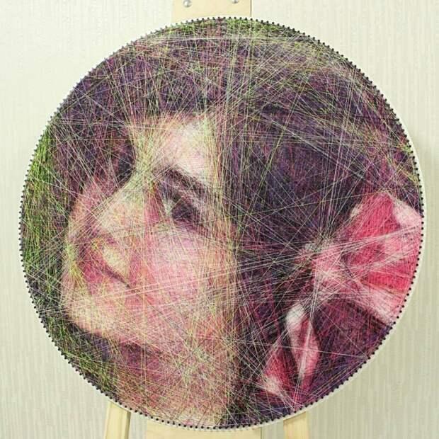 Портрет девушки, Эмиль Вернон искусство, красиво, креатив, нити, программирование, рисунки, творчество, художники
