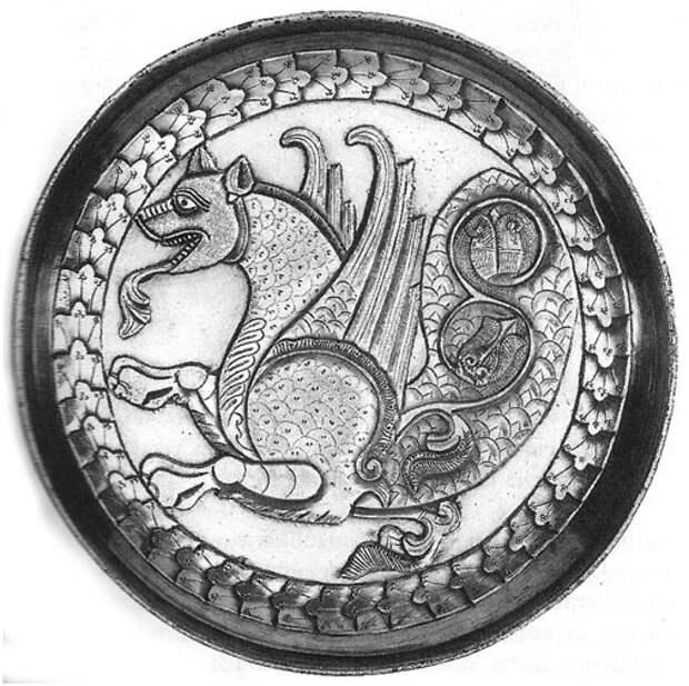 Иранский Симург, династийный символ Сасанидов