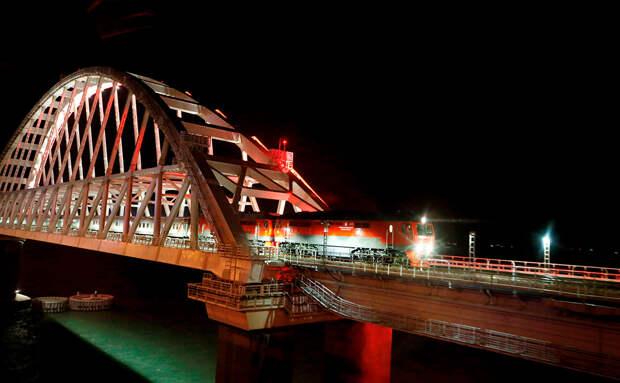Новые экономические перспективы для Крыма. Сотый поезд пересек мост через Керченский пролив