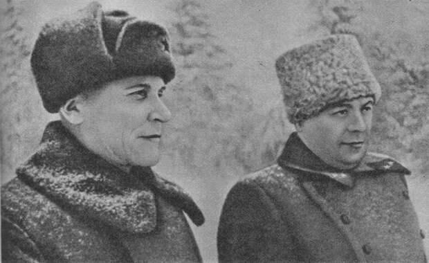 Конев и его начштаба Захаров, зима 1942-го года, фото из открытых источников