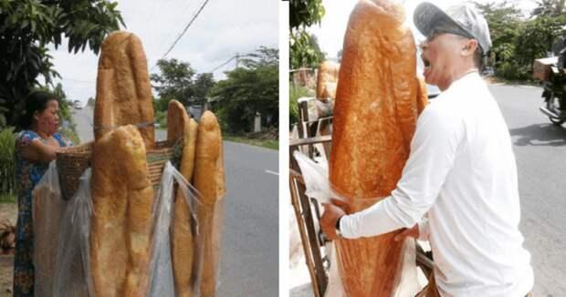 Самый большой хлеб вмире пекут воВьетнаме
