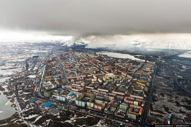 One of the most severe cities on Earth from above