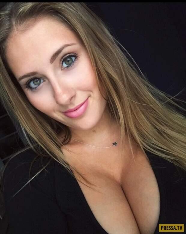 Горячие девушки с большой грудью и роскошного вида декольте (43 фото)