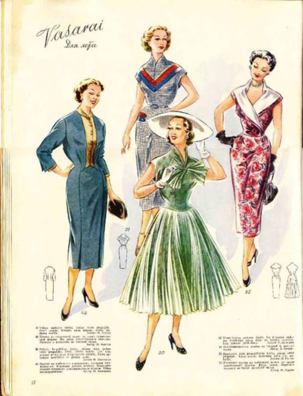 Rigas Modes 1955-1956 год (Рижские Моды), разделы Для пляжа и Для лета