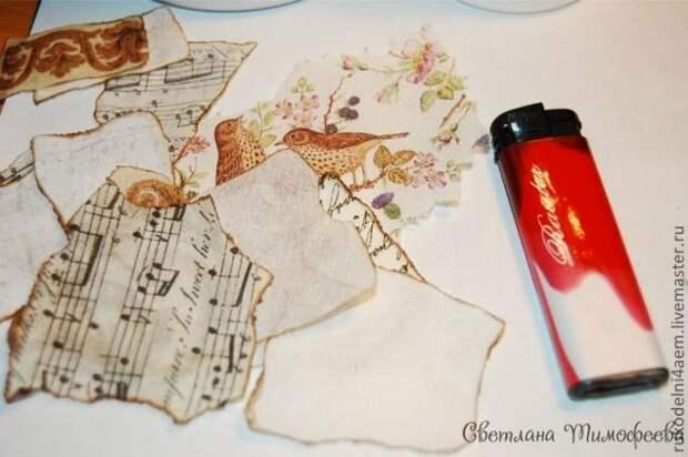Декупаж на пластмассе: декорируем пластиковое ведерко «Птичка певчая»