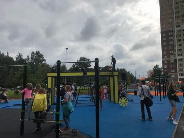 Универсальная площадка и обновлённый сквер в Северном пользуются огромной популярностью