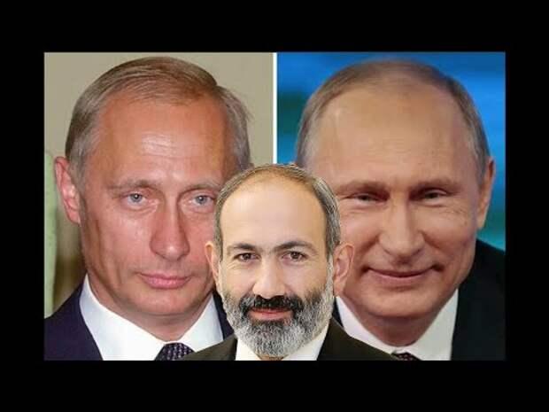Артисты в роли Путина и настоящий Пашинян