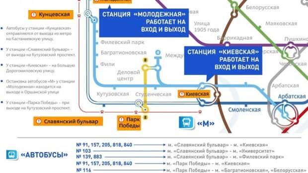 Временная выделенная полоса появится в Москве из-за ЧП в метро