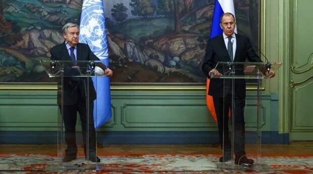 Лавров заявил об опасности применения Западом санкций в обход ООН