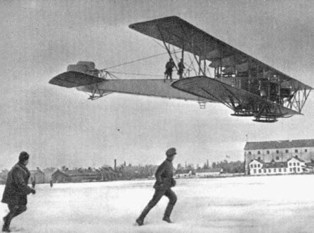 Многомоторный самолет «Илья Муромец» изобретения, россия