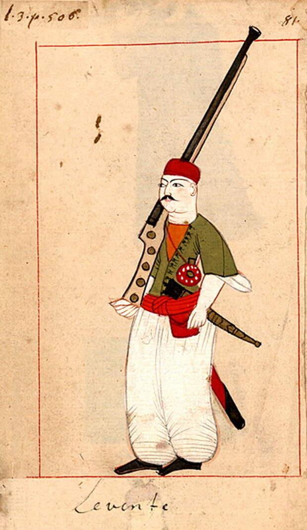 Османский наёмный солдат-левент. commons.wikimedia.org - «Война двух царей»: последний аккорд | Warspot.ru
