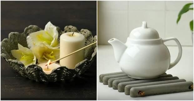 Быстрые, простые и стильные способы декора с помощью цемента