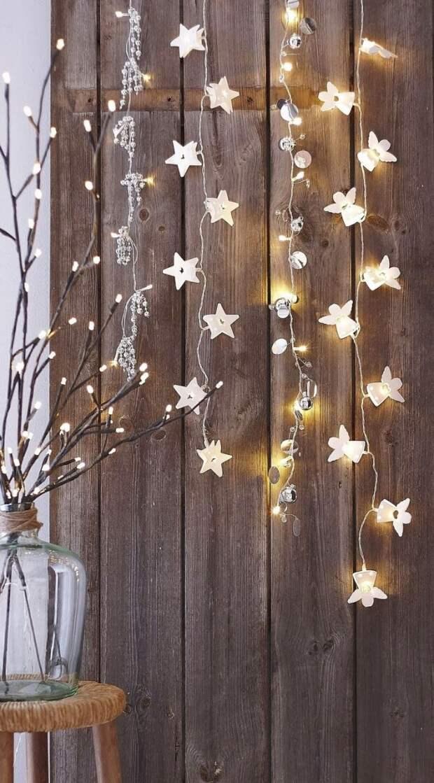 Украсьте стены гирляндой со звездами, и ваш дом мигом превратится в маленькую вселенную