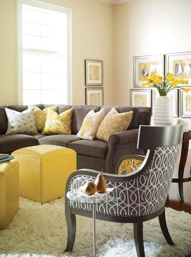 Хороший вариант создать отличную обстановку в гостиной, которая создана благодаря оригинальной цветовой схеме.