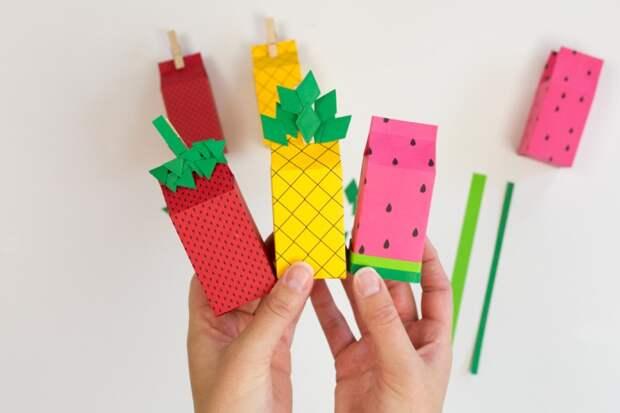 Упаковка подарков своими руками: шаблоны фруктовых пакетов