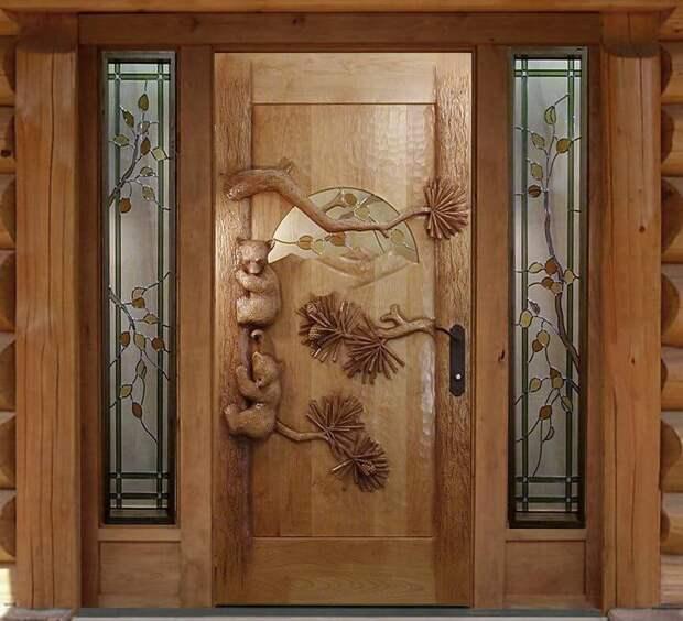 Резные двери в современном интерьере