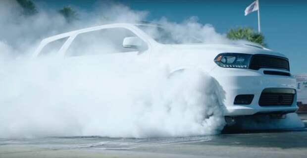 Дым-машина: Dodge Durango SRT отметил свое достижение по-хулигански