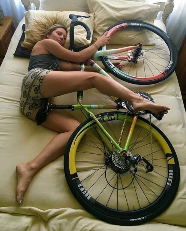 И бонус. Любите ваши велосипеды! Фабрика идей, велосипед, гениально, интересное, сделай сам, хранение