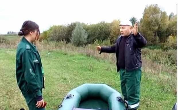 Штраф за машину у реки по ст.65 п.4 ВК - рыбинспектор и возмущенный рыбак любитель