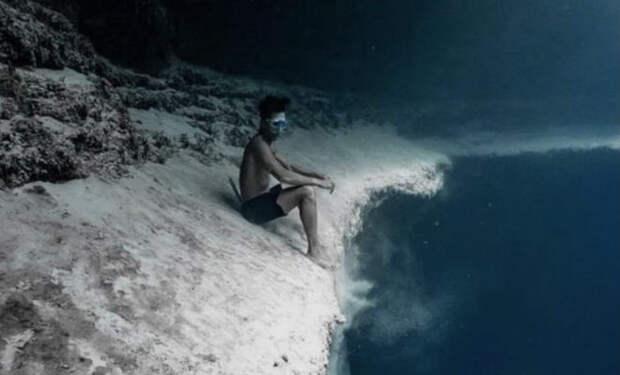 Водоем с двойным дном: второго берега можно достичь, спустившись на дно