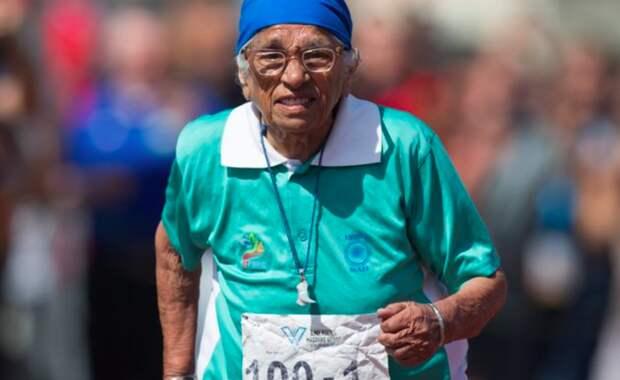 "100-летняя бабушка из Индии взяла ""золото"" на 100-метровке"